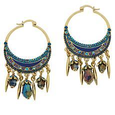 """Heidi Daus """"Celestial Sparkle"""" Crystal Hoop Dangle Earrings"""