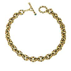 "Heidi Daus ""Chain Reaction"" 18-1/4"" Crystal Chain-Link Necklace"