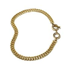 "Heidi Daus ""Charming Chain"" Crystal Link Necklace"
