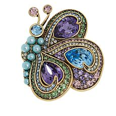 "Heidi Daus ""Charming Papillon"" Crystal Pin"