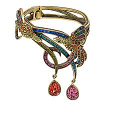 "Heidi Daus ""Chirp and Cheerful"" Crystal-Accented Bangle Bracelet"