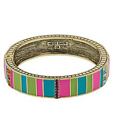 "Heidi Daus ""Color Crazy"" Enamel and Crystal Bangle Bracelet"