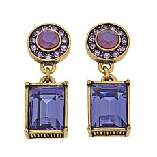 "Heidi Daus ""Conscious Coupling"" Crystal Drop Earrings"