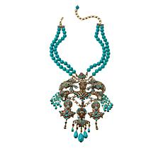 "Heidi Daus ""Court of Critters"" Crystal Beaded Bib Necklace"