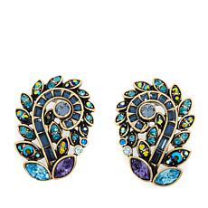 "Heidi Daus ""Couture in Bloom"" Crystal Earrings"