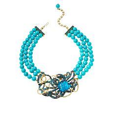 "Heidi Daus ""Crabby"" Crystal Triple-Strand Beaded Necklace"