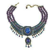 "Heidi Daus ""Crystal Magnetism"" 3-Strand Beaded Crystal Drop Necklace"