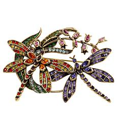 "Heidi Daus ""Dancing Dragonflies"" Crystal Pin"