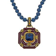 "Heidi Daus ""Day and Night"" Crystal and Enamel Pendant and Necklace"