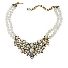 """Heidi Daus """"Dazzling Decolette"""" Crystal and Glass Bead Necklace"""
