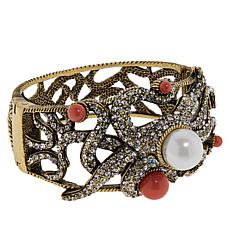 "Heidi Daus ""Dazzling Summer Dalliance"" Crystal Bangle Bracelet"
