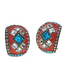 "Heidi Daus ""Deco Master Clasp"" Hoop Earrings"