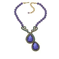 "Heidi Daus ""Demoiselle"" Beaded Drop Necklace"