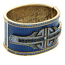 Heidi Daus Denim And Deco Crystal Bangle Bracelet