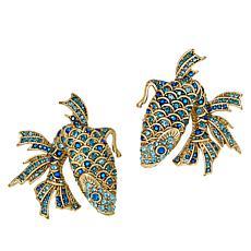 "Heidi Daus ""Drop Me a Line"" Crystal Fish-Design Earrings"