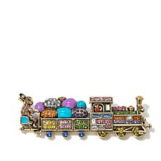 "Heidi Daus ""Easter Express"" Crystal and Enamel Pin"