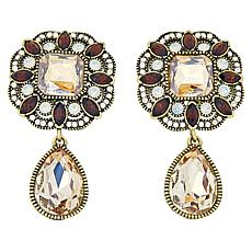 "Heidi Daus ""Elegant Know-How"" Crystal Drop Earrings"