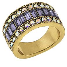 "Heidi Daus ""Endless Baguettes"" Crystal Ring"