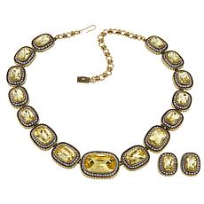 """Heidi Daus """"Exquisite Elegance"""" Necklace and Earrings Jewelry Set"""