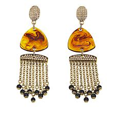 "Heidi Daus ""Fabulous Find"" Fringe Drop Earrings"