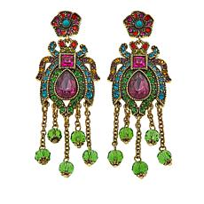 "Heidi Daus ""Fabulous Flutterbug"" Crystal Drop Earrings"