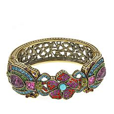 "Heidi Daus ""Fabulous Flutterbug"" Crystal Hinged Bangle Bracelet"