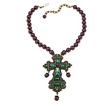"Heidi Daus ""Faithful Expressions"" Beaded Crystal Drop Necklace"