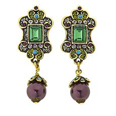 "Heidi Daus ""Faithful Expressions"" Crystal-Accented Drop Earrings"