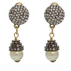 "Heidi Daus ""Fascinating Fascinator"" Crystal Drop Earrings"