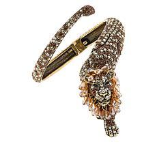"Heidi Daus ""Feline Wrapture"" Crystal Hinged Bracelet"