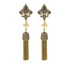 "Heidi Daus ""Fleur'd Fabulous"" Tassel Drop Earrings"