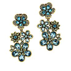 "Heidi Daus ""Flower Show"" Crystal Drop Earrings"