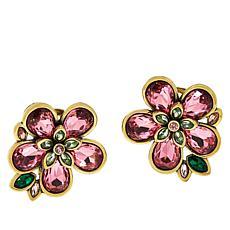 """Heidi Daus """"Flower Show"""" Crystal Earrings"""