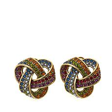 "Heidi Daus ""Forget Me Knot"" Crystal-Accented Earrings"
