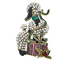 "Heidi Daus ""French Gift"" Crystal-Accented Poodle Pin"