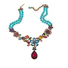 "Heidi Daus ""Garden Glamour"" Beaded Crystal Drop Necklace"