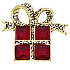 """Heidi Daus """"Glamorous Gift"""" Crystal Pin"""