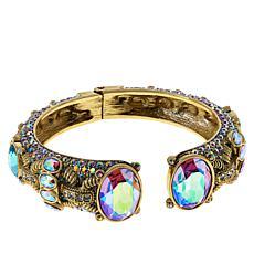 "Heidi Daus ""Gorgeous Rocks"" Hinged Cuff Bracelet"