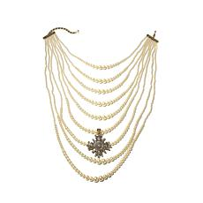 "Heidi Daus ""Grande Dame"" 9-Row Necklace and Pendant"