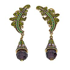 "Heidi Daus ""Highland Thistle"" Crystal Drop Earrings"