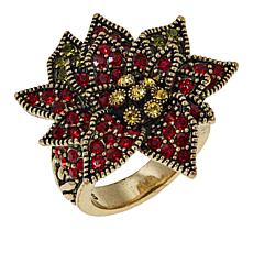 "Heidi Daus ""Holiday Corsage"" Crystal Ring"