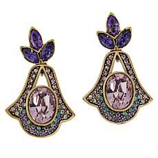 "Heidi Daus ""Hope Never Dies"" Crystal Drop Earrings"