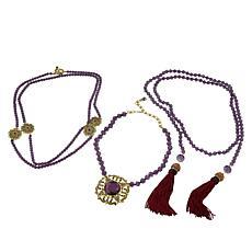 """Heidi Daus """"How Suite It Is"""" 3-piece Necklace Set"""