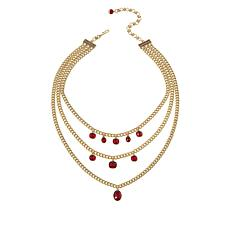 """Heidi Daus """"I Want Candy"""" 17-1/2"""" Mixed Cut 3-Row Necklace"""