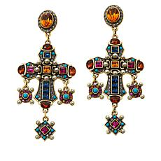 "Heidi Daus ""Jeweled Awakening"" Crystal Drop Earrings"