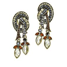 "Heidi Daus ""Knot Now"" Crystal Drop Earrings"