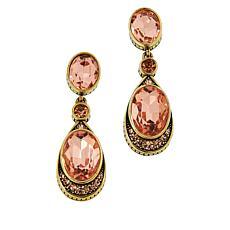 """Heidi Daus """"La Bella"""" Crystal Drop Earrings"""