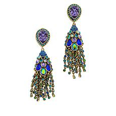 "Heidi Daus ""Let Down Your Feathers"" Tassel Drop Earrings"