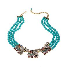 "Heidi Daus ""Life's a Parade"" 3-Strand Beaded Necklace"