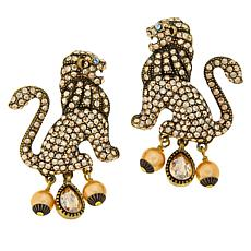 "Heidi Daus ""Lion Royalty"" Crystal Earrings"